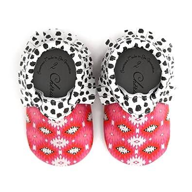 56321b50021 Pink Trendy Boho Geometric Print Black White Dot Design Size 4 18-24 Month  100