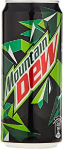 Mountain Dew, Carbonated Soft Drink, Mini Cans, 8 x 295 ml