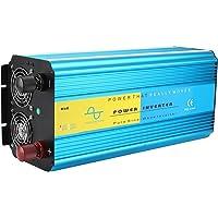 Inversor de energia, 4000W LCD USB 2 plugues universais Inversor de onda senoidal pura, DC para AC Peak Power 8000W…