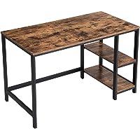 VASAGLE Bureau, computertafel, pc-tafel, bureautafel, met 2 legplanken rechts of links, voor kantoor, woonkamer, stalen…