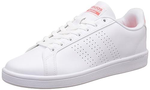 Adidas Aw3916, Zapatillas de Deporte Unisex Adulto, Varios Colores (Ftwbla/Ftwbla/Rojsol), 44 EU