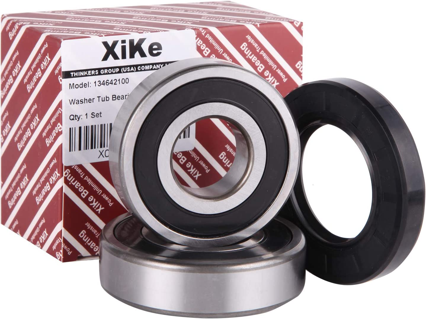 XiKe 134642100 Washer Tub Bearing & Seal Kit Rotate Quiet and Durable, Replacement for Electrolux and Kenmore 1482894, AH2350420, EA2350420 Etc.