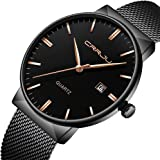 Mens Fashion Casual Quartz Watch Business Watches Men Stainless Steel Chronograph Wristwatch CJ-2214BU