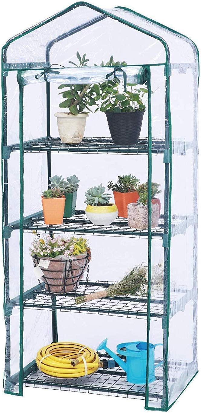 Worth Garden-Mini Greenhouse-4 Tier Indoor Greenhouse-greenhouses for Outdoors-Use in Any Season for Plants