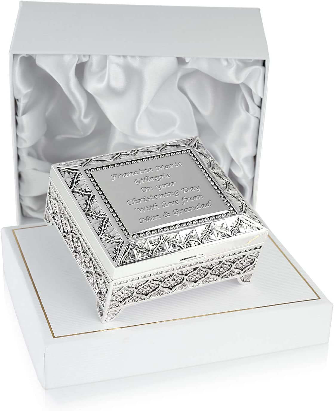 Personalised Trinket Box Baptism Christening Gift
