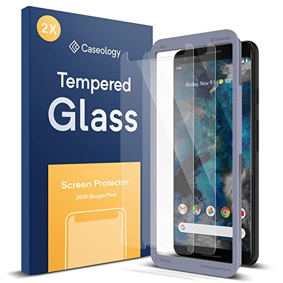 new style 601f1 5546a Caseology Screen Protector for Google Pixel 3 Tempered Glass (2018) - 2 Pack