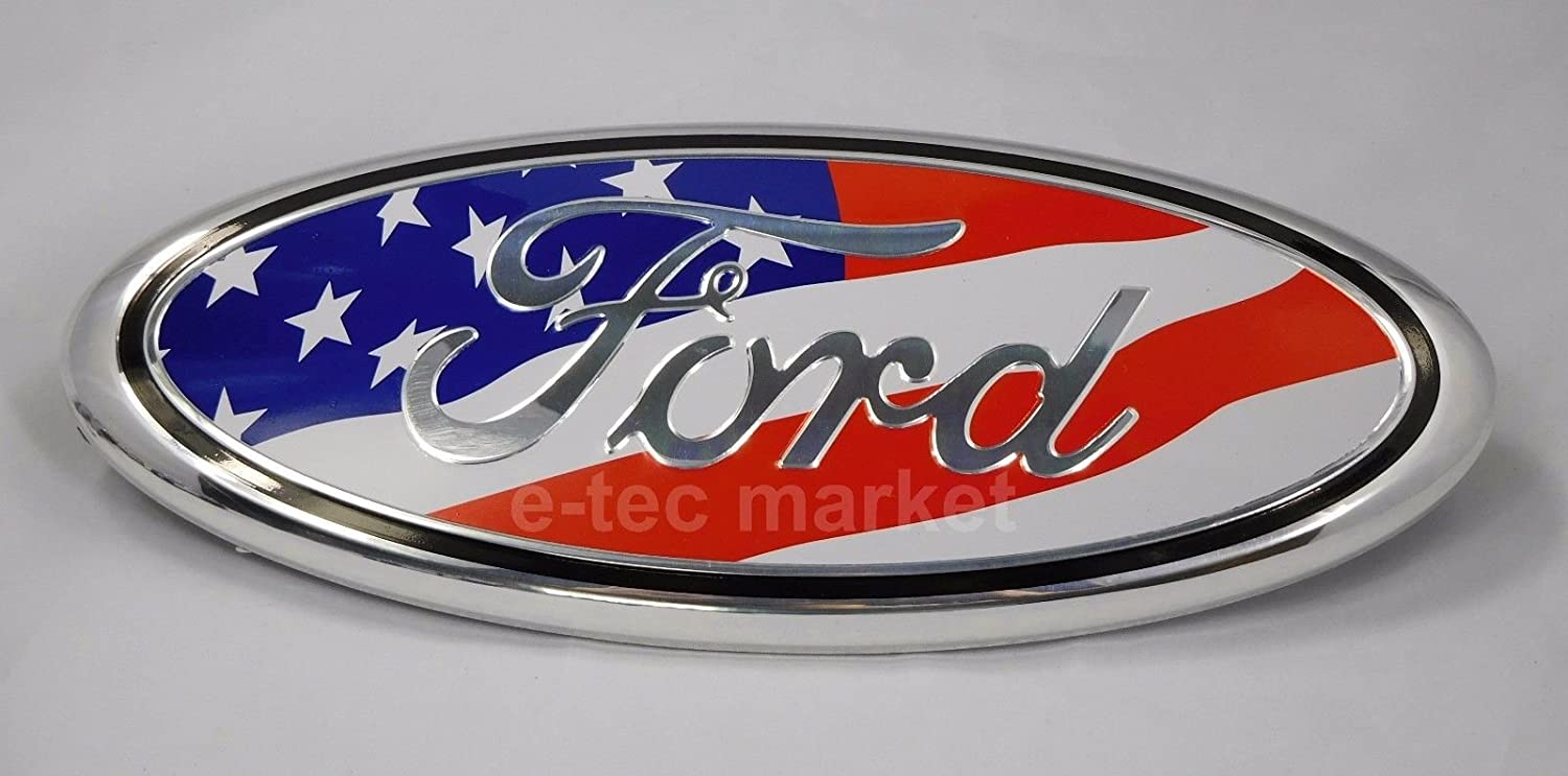 Shenwinfy 7 Inch Front Grille and Rear Tailgate Emblem for Ford F150 Escape Excursion Expedition