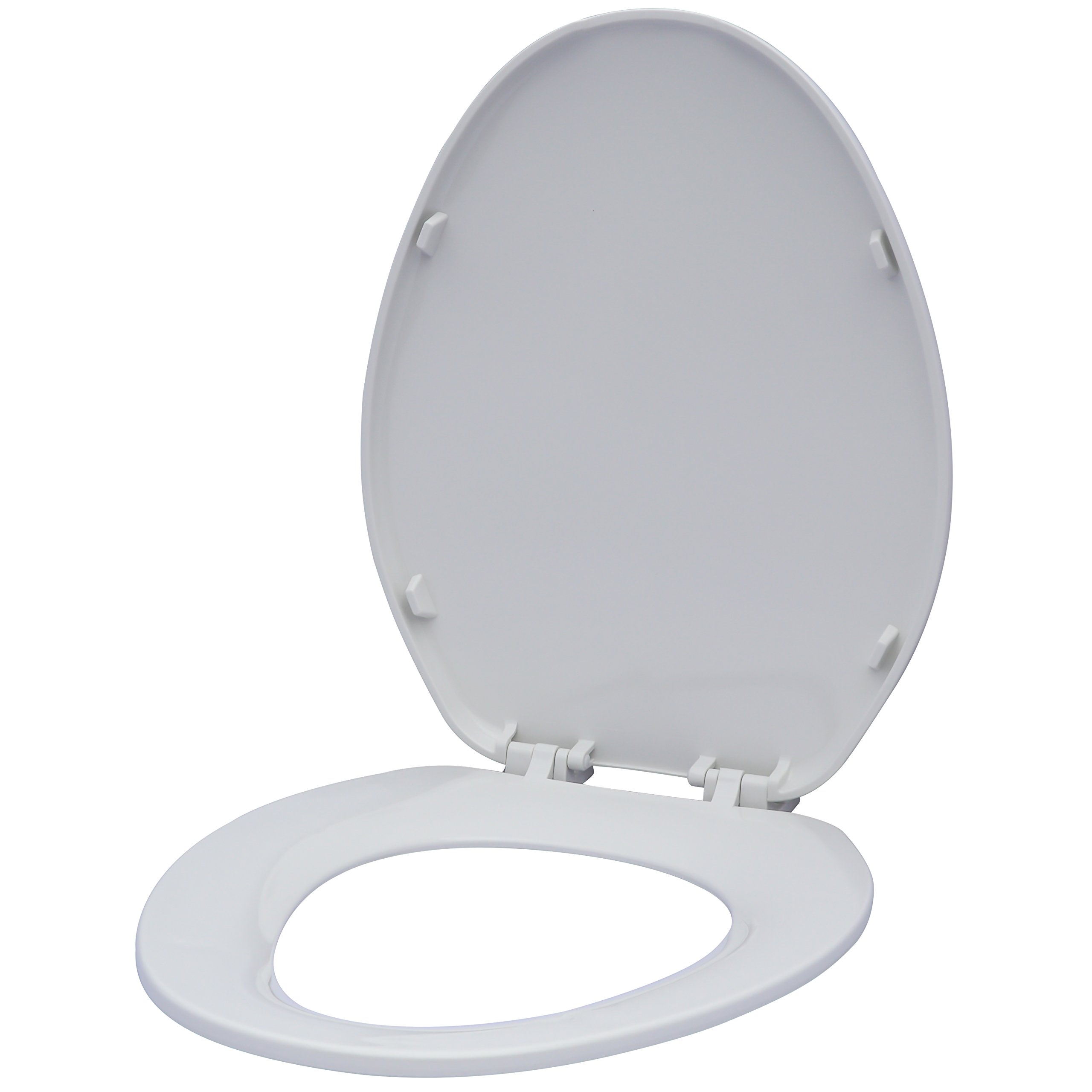Karlson KS1241-1901-WH Builder Grade Plastic Elongated Toilet Seat White