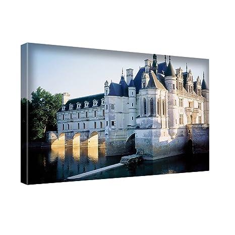 61349276a7 Città 10022, Castelli della Loira, Stampa Artistica su Canvas Quadro su Tela  Immagine su
