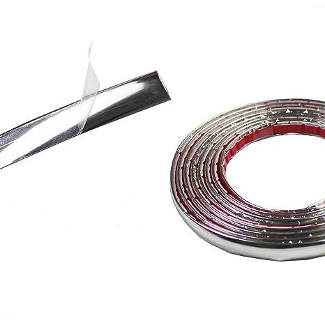 Silver PVC Chrome Car Moulding Trim Strip Decor Window Protector Cover