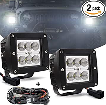 "3x3  Cube LED Work Light 18W 3/"" Square Off Road light driving light Pack of 6"