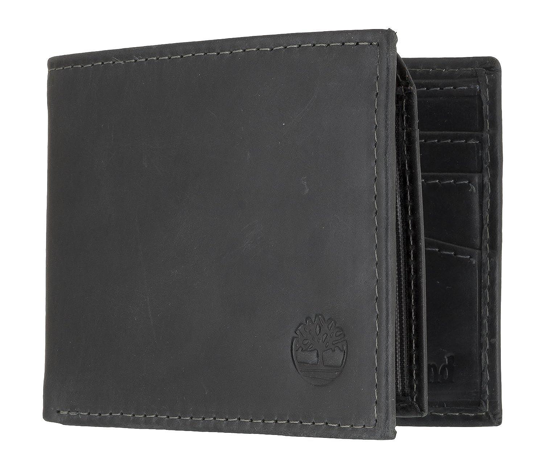 Timberland Passcase Herren Brieftasche Schwarz: