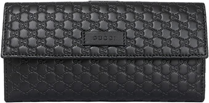 Gucci Women S Gg Microguccissima Leather Continental Flap Wallet 449396 Black At Amazon Women S Clothing Store