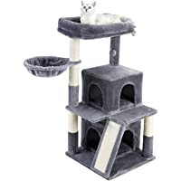 PAWZ Road Cat Tree Tower with Sisal-Covered Scratching Post & Hammock Multi-Level Kitten House - Large Cat Stand…