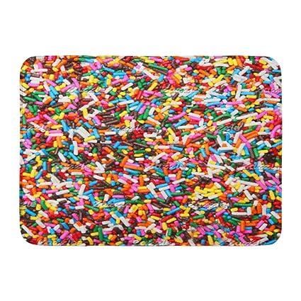 Amazon com: Custom Bath Mat Sprinkles Home Bathroom Decor