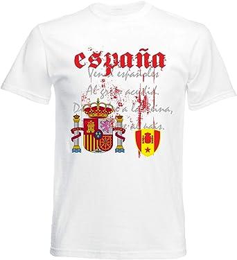 aprom Camiseta de España con bandera nacional para hombre: Amazon ...