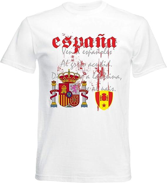 aprom Camiseta de España con bandera nacional para hombre: Amazon.es: Ropa y accesorios