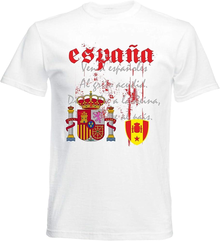 Camiseta de manga corta para hombre, diseño de bandera de España ...
