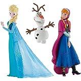 Bullyland Disneys Die Eiskönigin - Set Figuren Anna, Elsa und Olaf