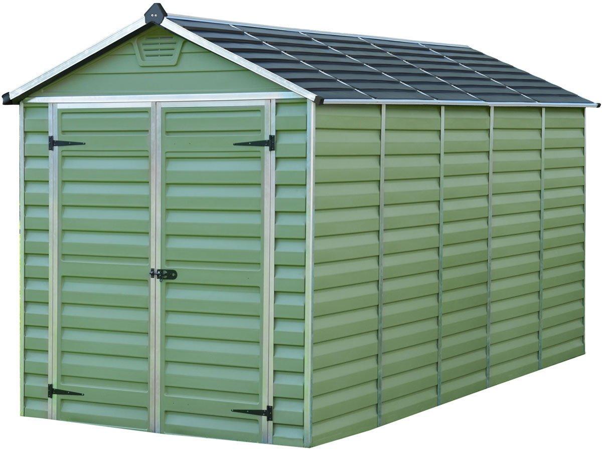 Caseta de jardín en policarbonato Skylight 7m² - Verde: Amazon.es: Jardín