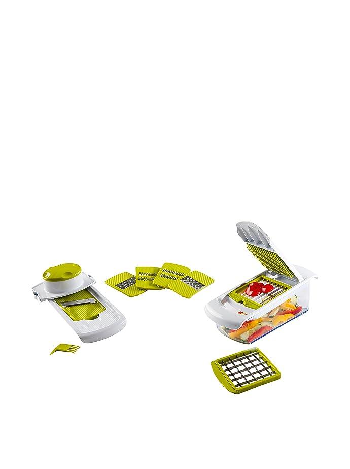 Kitchen Artist MEN216 Mandoline + Coupe-Légumes 2-En-1: Amazon.fr ...