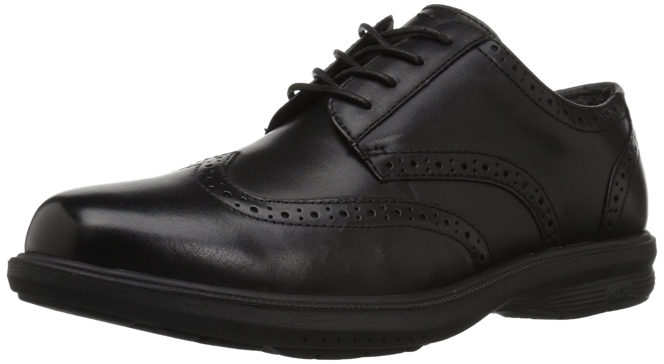 Nunn Bush Men's Manzano Wing Tip Oxford, Black, 11 W US