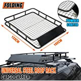 Universal Steel Roof Rack Powder Coated Basket Mesh Luggage Carrier 1.23mx1.02m