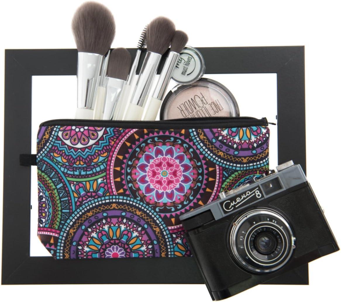 PREMYO Neceser de Maquillaje Estuche Escolar Pochette para Cosméticos Bolsa de Aseo Pequeña Práctico Estampado Impresión Diseño Mandala: Amazon.es: Belleza