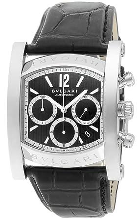 size 40 aa8ce be3b2 [ブルガリ]BVLGARI 腕時計 アショーマ ブラック文字盤 アリゲーター革ベルト 自動巻 クロノグラフ デイト AA48BSLDCH メンズ  【並行輸入品】