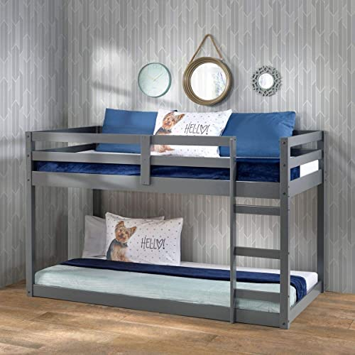 Harper Bright Designs Twin Over Twin Bunk Bed Frame