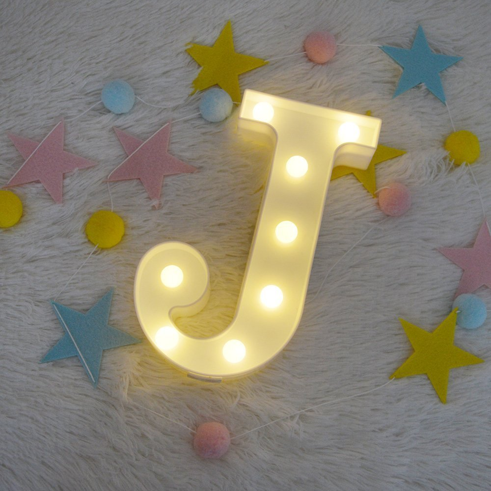 P Alphabet Letters LED Night Light Festival Marquee Sign Wall Decorative Table Lamps Wedding Bedroom Lamp Wall Hanging Photography Ornaments Motif Lamp