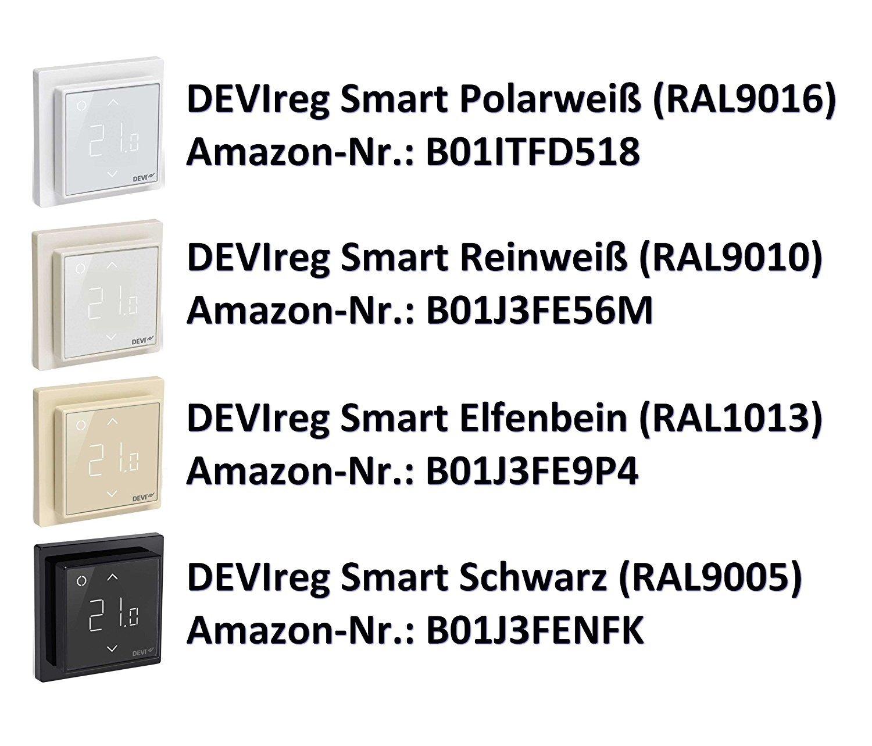 Thermostat f/ür Fu/ßbodenheizung mit WLAN-Anbindung Devireg Smart Elfenbein