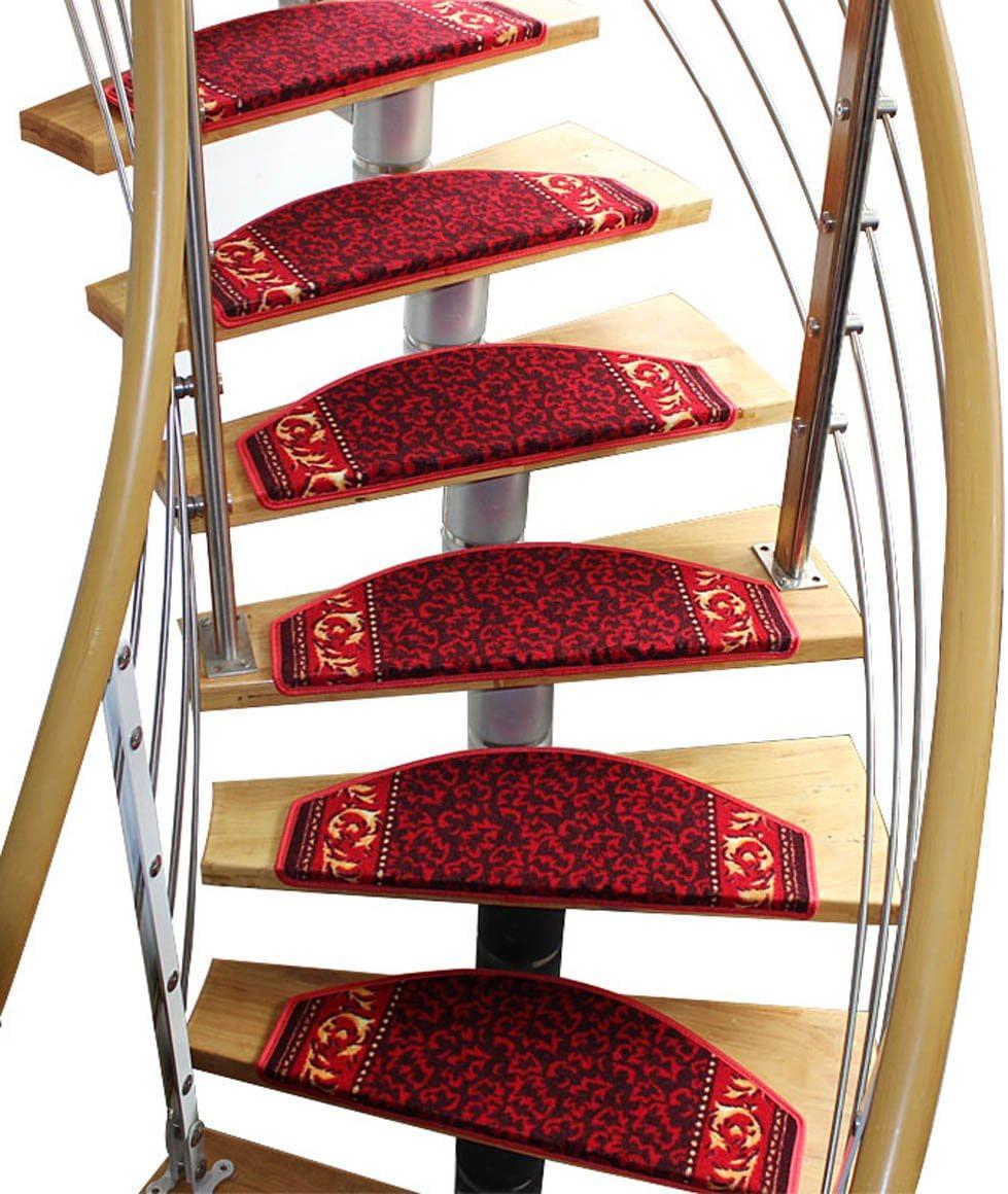 Yangguang Escaleras clásicas Alfombra Escaleras autoadhesivos de Auto-absorción Mantas Antideslizantes Cojín de pie Continental (Color : B, Tamaño : 80 * 24cm): Amazon.es: Hogar