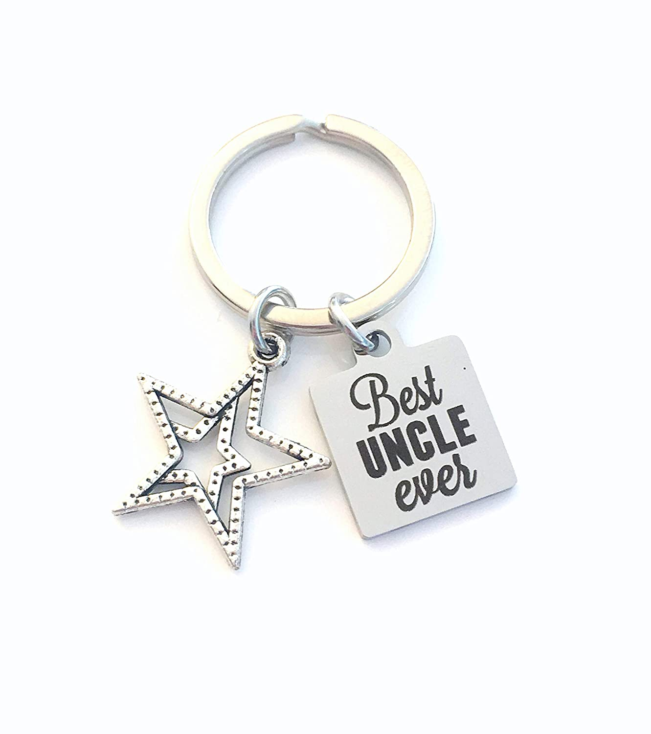 Best Uncle Ever Keychain, Gift for Uncle Key Chain