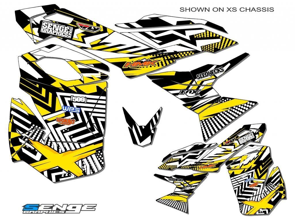 Senge Graphics ALL YEARS Ski doo Freestyle Mayhem Yellow Sled Wrap Senge Graphics Inc. COMINU031606