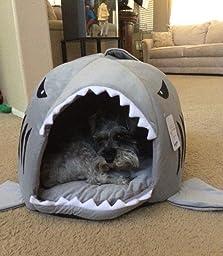 Amazon.com : Yosoo Shark Round House Puppy Bed with Pet