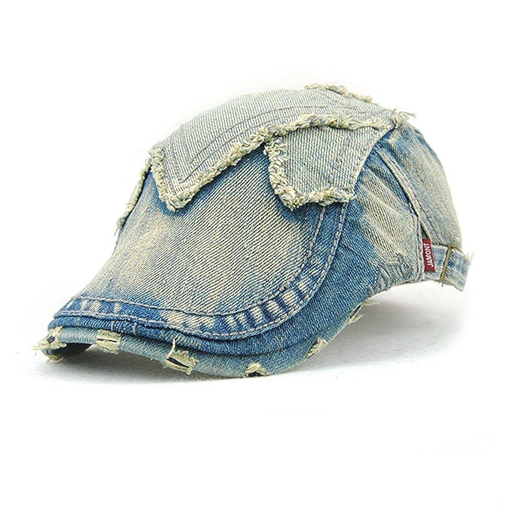 GADIEMKENSD Washed Jeans Hat for Men Women Unisex Summer