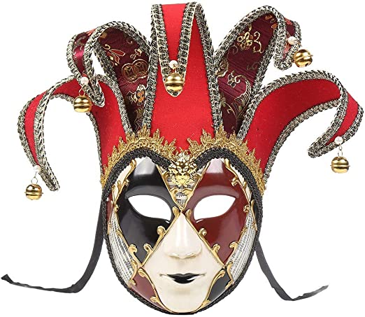 Máscara Veneciana Watopi Joker de lámina Dorada para Disfraz ...