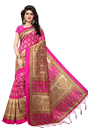 AKSHAR STORE Mysore Art Silk Sarees For Womens Mysore Art Silk Saree With Blouse Piece