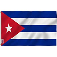 Anley Fly Breeze 90 x 150 cm Bandera Cuba - Colores Vivos y Resistentes a Rayos UVA - Bordes Reforzados con Lona y Doble Costura - Nacional Cubana Banderas Poliéster con Ojales de Latón 90 x 150 cm