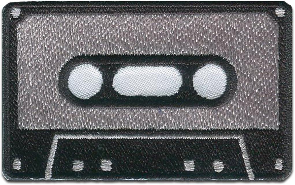 Casete MC m/úsica retro Parches Farbvariante:rojo by catch-the-patch/® termoadhesivos bordados aplique para ropa 4,5 x 7,5 cm varios colores seleccionables