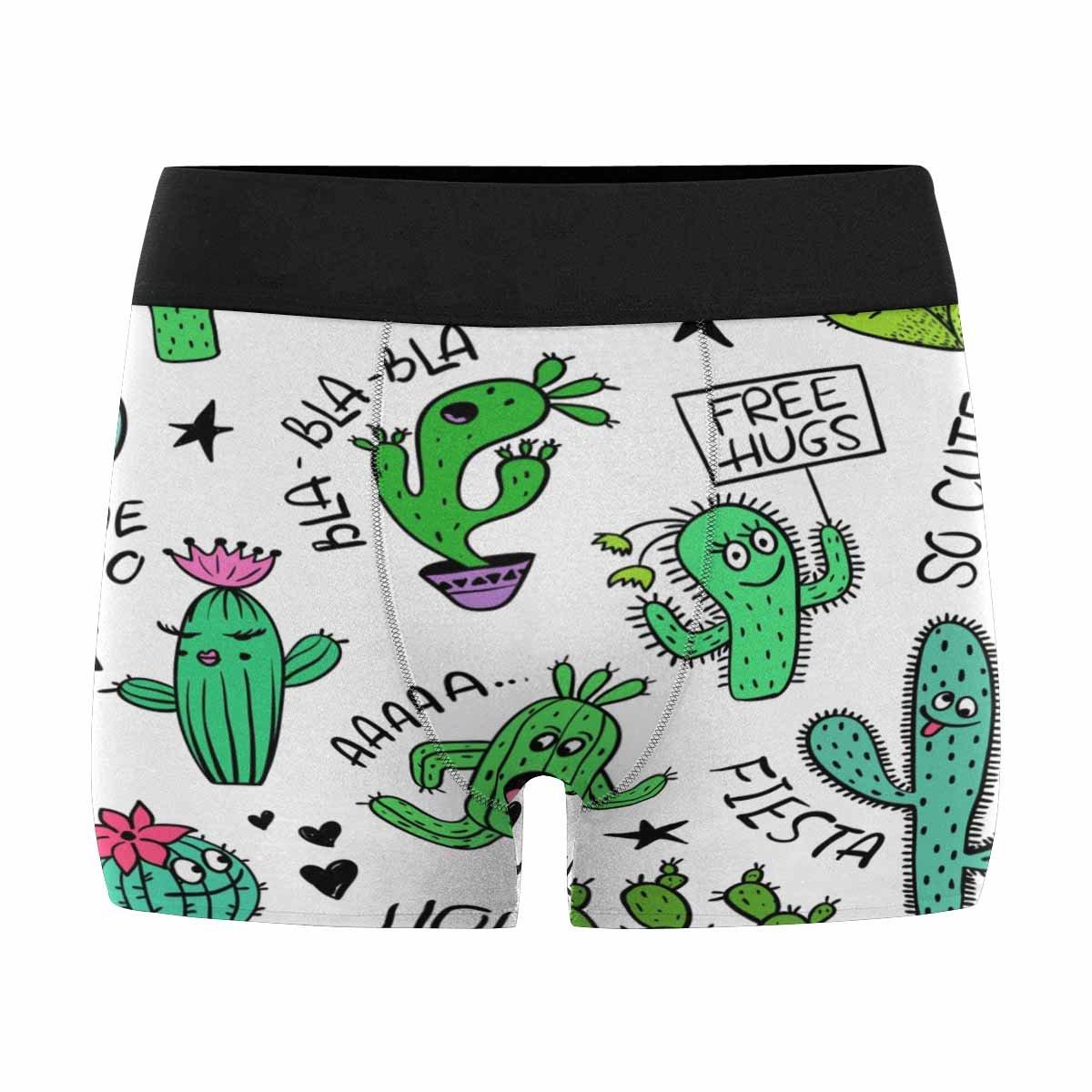 XS-3XL INTERESTPRINT Boxer Briefs Mens Underwear Tropical Fruits and Ice Cream Memphis Style