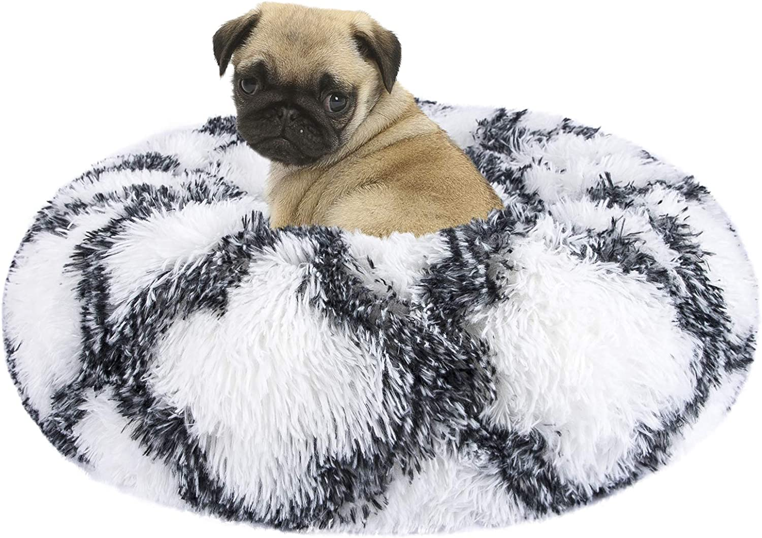 INVENHO Orthopedic Dog Bed Cat Bed for Small Medium Dogs Pet Bed Donut Cuddler Round Soft Calming Bed, Self Warming and Washable Sleeping Bed (16''/20''/23''/30'')