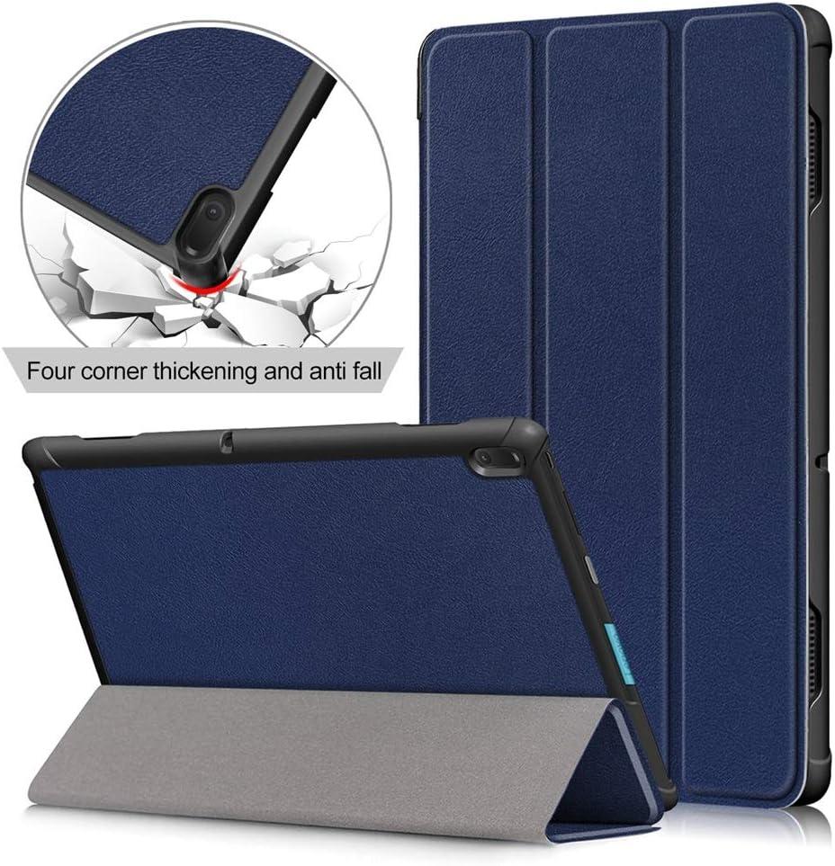 10.1 inch Tablet Case for Lenovo Tab E10 (NOT Fit Tab P10/ M10),[DETUOSI] Premium Lightweight Folio Case Lenovo Tab E 10.1 inch (TB-X104) Slim Folding Stand Covers,Deepblue