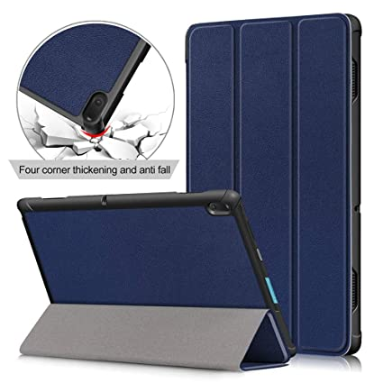 big sale c3499 4cd15 10.1 inch Tablet Case for Lenovo Tab E10 (NOT Tab P10 M10) Folio Case  Lenovo Tab E 10.1 inch (TB-X104) Slim Folding Stand Covers,Deepblue