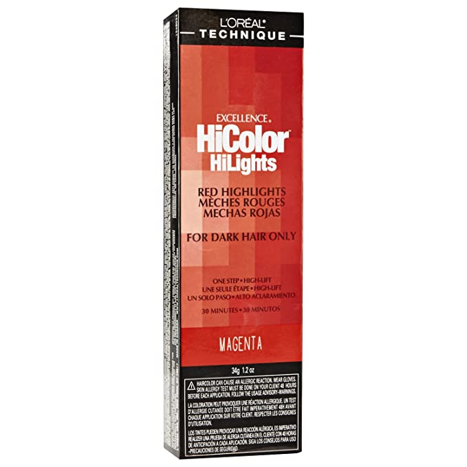 L\'oreal Excellence Hicolor, Red Magenta Highlights, 1.2 Ounce by L ...
