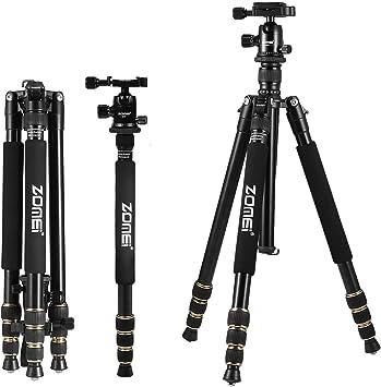 Zomei Q666 Profesional Portátil Trípode de cámara de aluminio ...