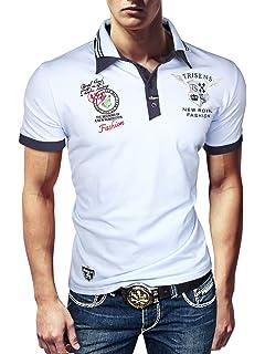 15259e505e9171 Trisens Polo New Poloshirt T-Shirt Hemd Party Slim Herren Kurzarm Pique  Delux