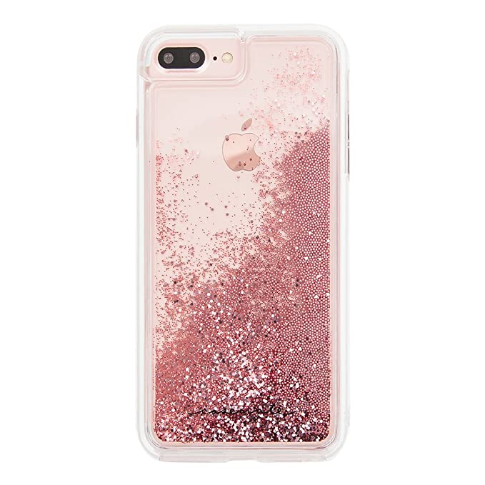 new concept 73012 702b6 Case-Mate iPhone 8 Plus Case - WATERFALL - Cascading Liquid Glitter -  Protective Design for Apple iPhone 8 Plus - Rose Gold