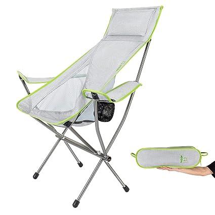Amazoncom Atepa Lightweight Compact High Back Folding Outdoor